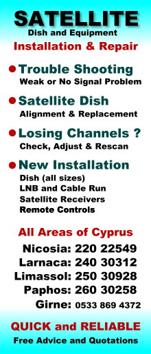 Will my Sky satellite Receiver work in Cyprus